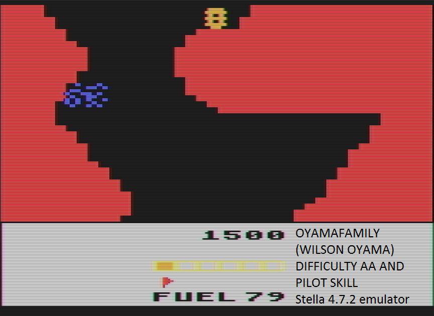 oyamafamily: Conquest of Mars: Pilot (Atari 2600 Emulated Expert/A Mode) 1,500 points on 2016-07-17 11:57:10