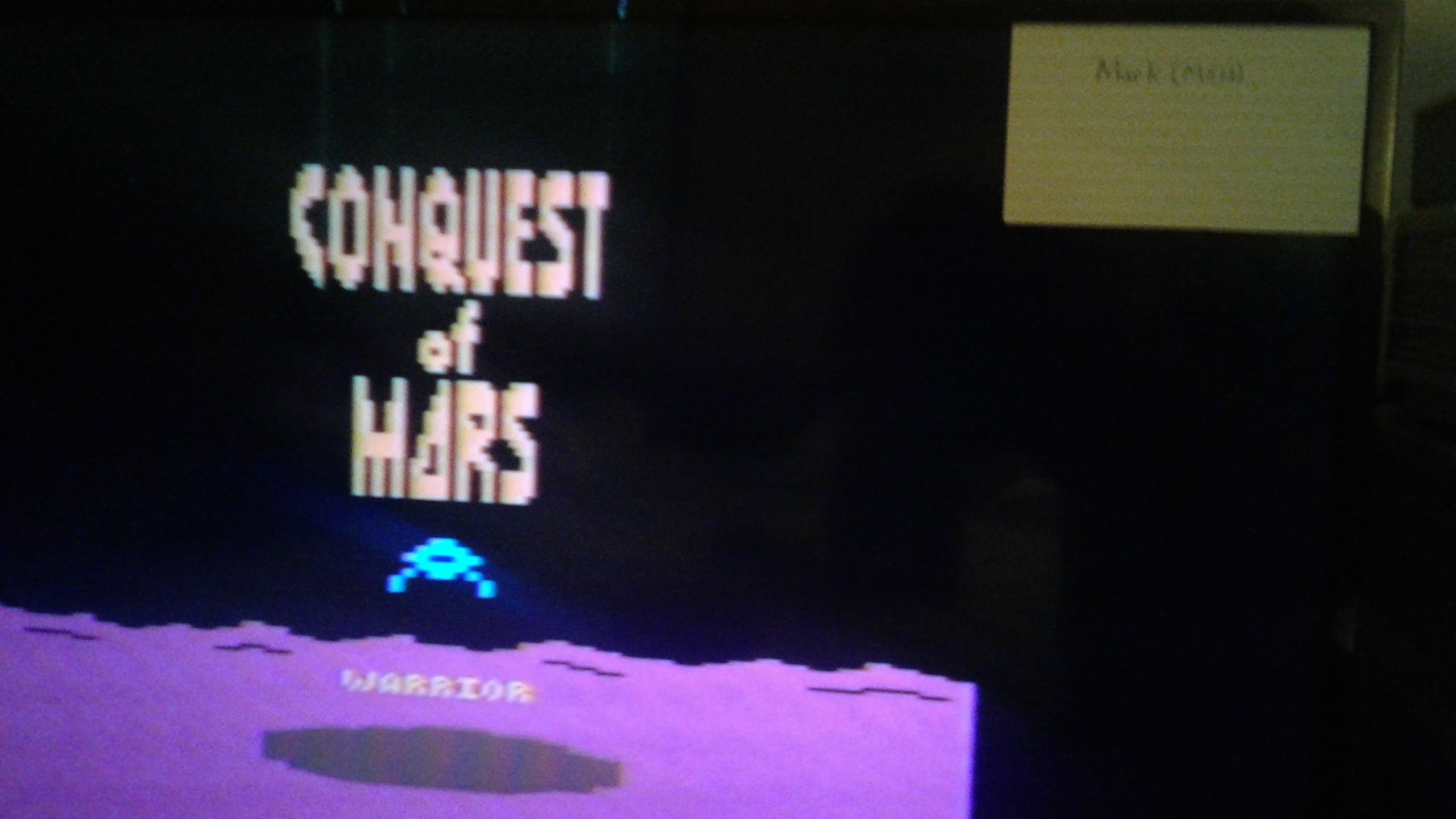 Mark: Conquest of Mars: Warrior (Atari 2600 Novice/B) 25,330 points on 2019-03-06 02:49:22