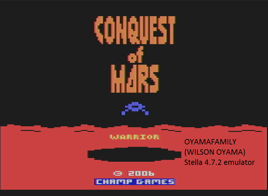 oyamafamily: Conquest of Mars: Warrior (Atari 2600 Emulated Novice/B Mode) 4,500 points on 2016-07-17 11:51:01
