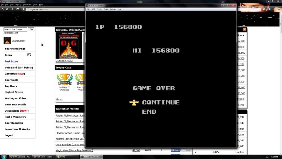 OriginalGamer: Contra [1 Life Only] (NES/Famicom Emulated) 156,800 points on 2016-08-01 22:23:59