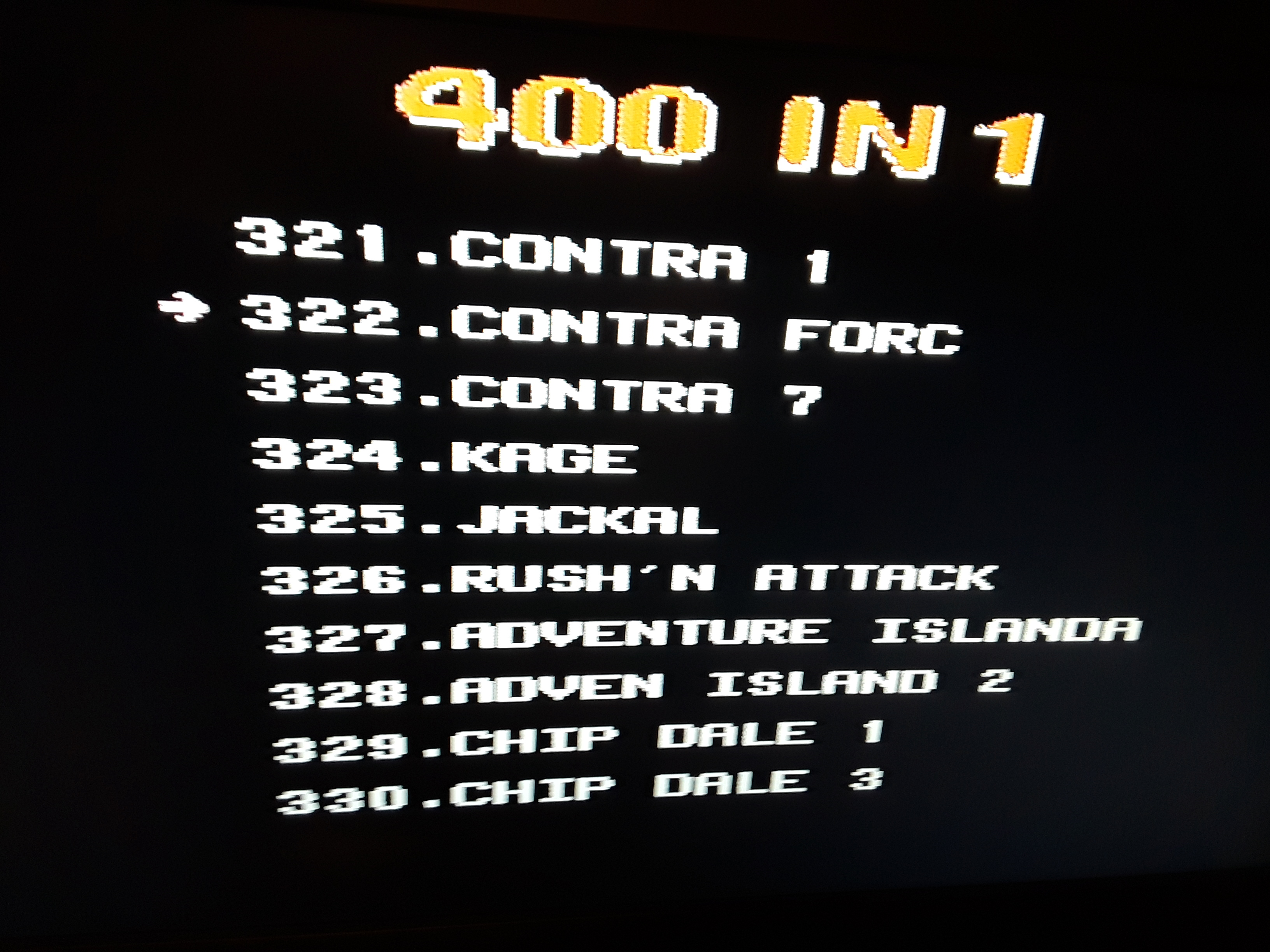 Contra Force 920 points