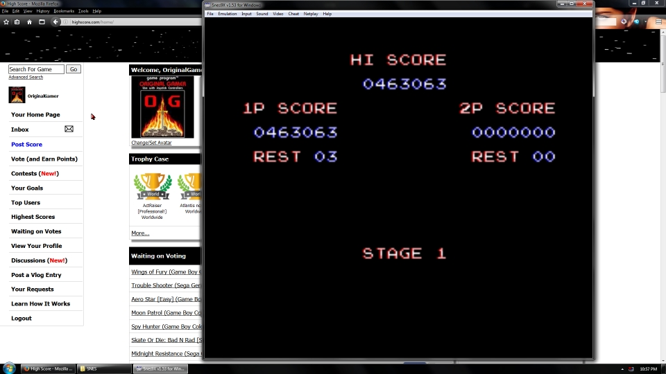 OriginalGamer: Contra III: The Alien Wars [Easy] (SNES/Super Famicom Emulated) 463,063 points on 2016-07-08 02:22:03
