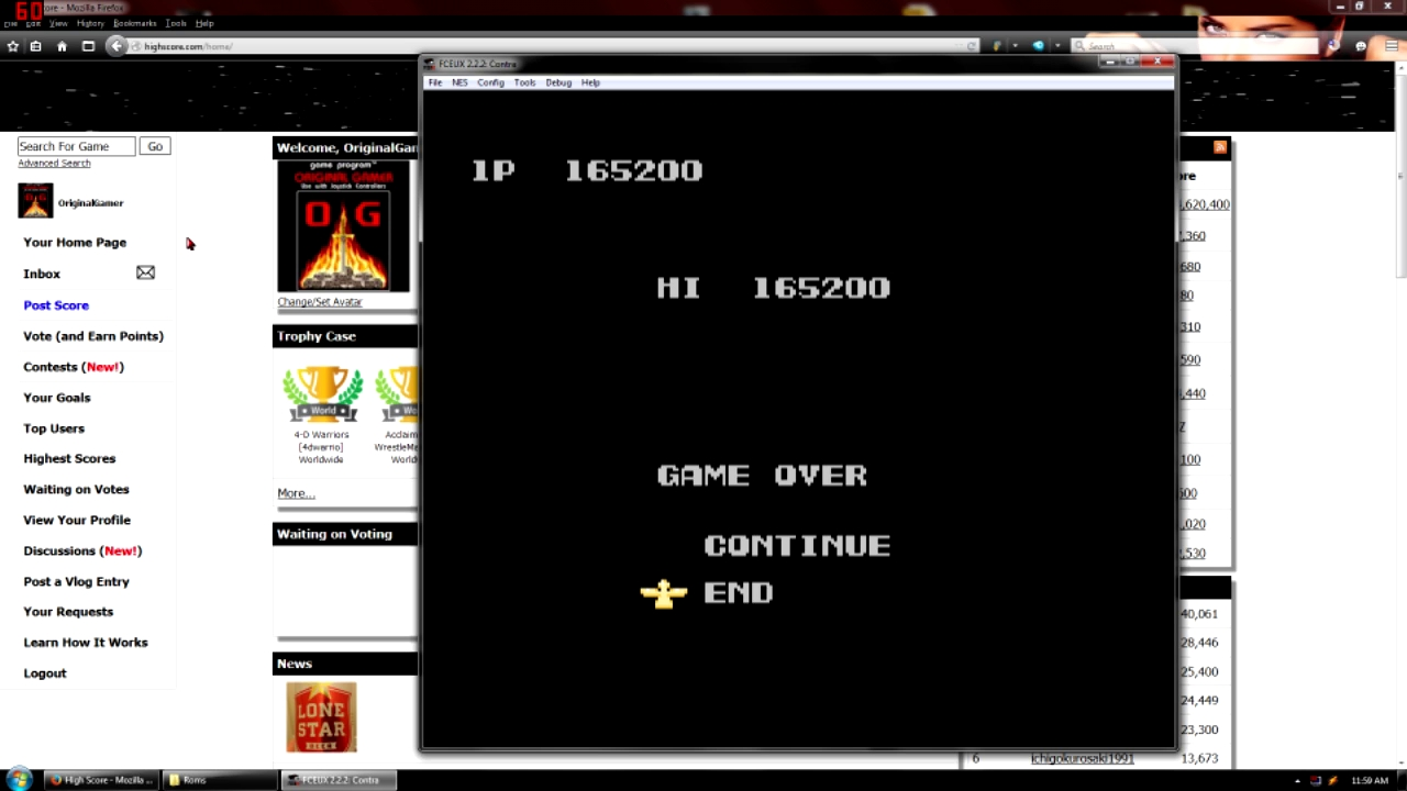 OriginalGamer: Contra (NES/Famicom Emulated) 165,200 points on 2015-09-07 22:52:01