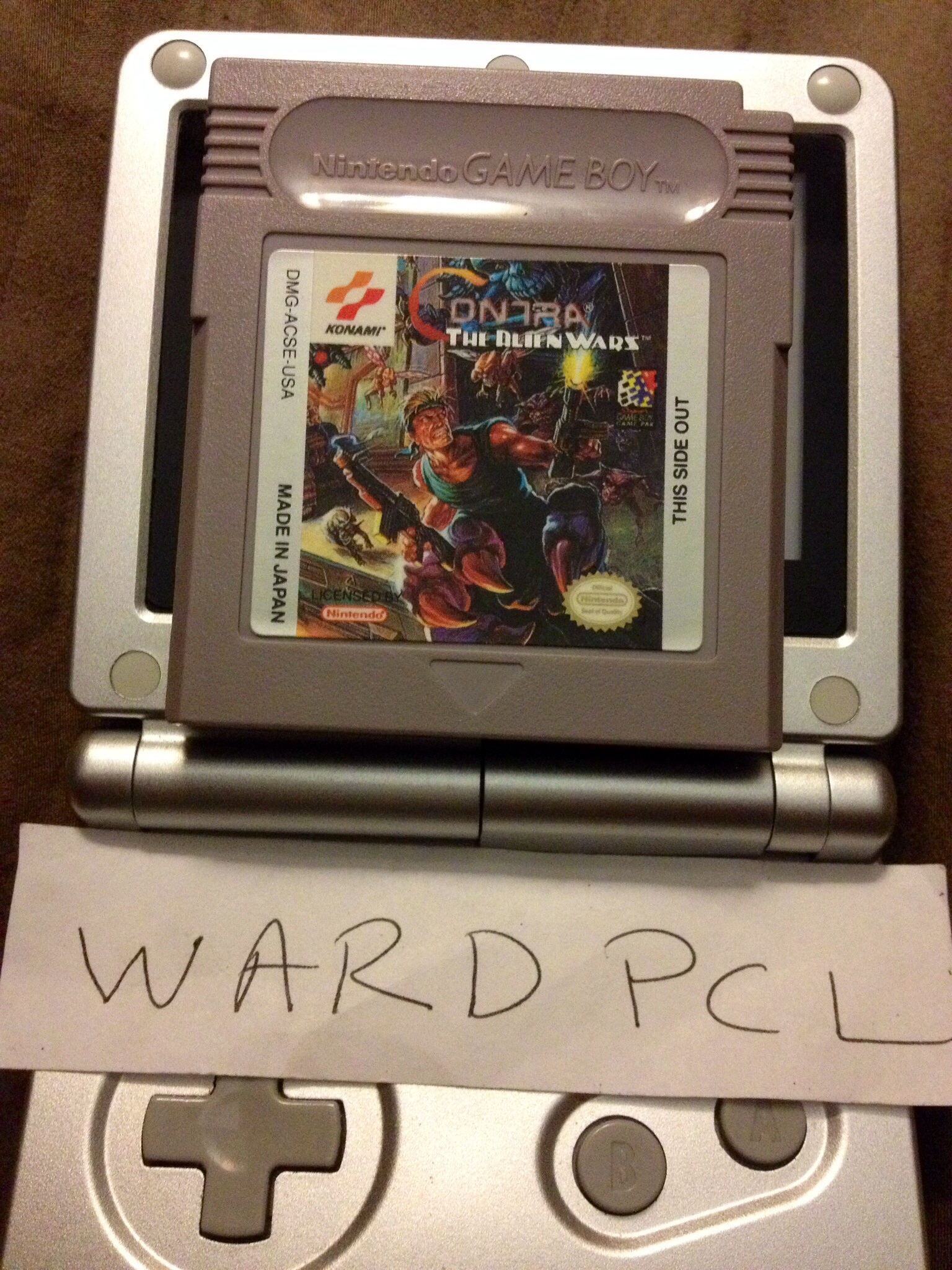 Wardpcl: Contra: The Alien Wars (Game Boy) 42,630 points on 2015-09-10 19:51:52