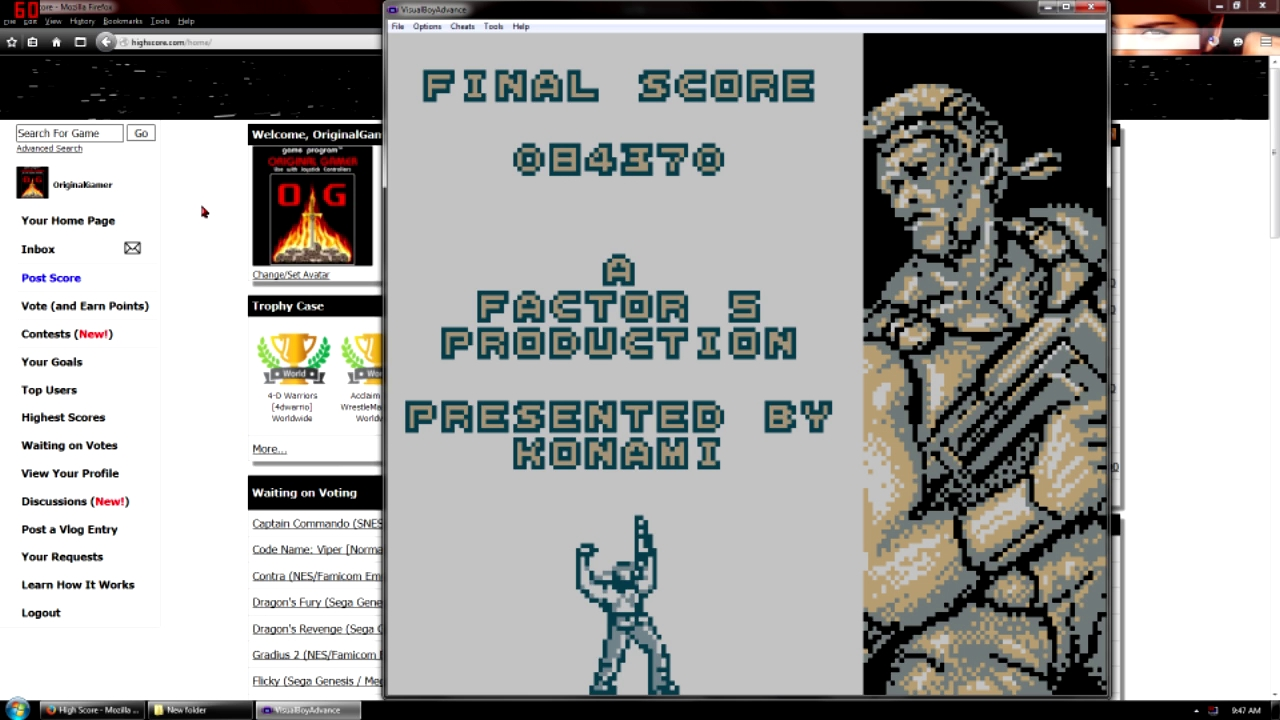 OriginalGamer: Contra: The Alien Wars (Game Boy Emulated) 84,370 points on 2015-09-11 22:17:03
