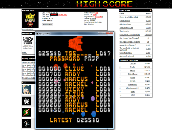 Sixx: Cool Bricks (Game Boy Color Emulated) 25,510 points on 2015-06-19 17:26:38