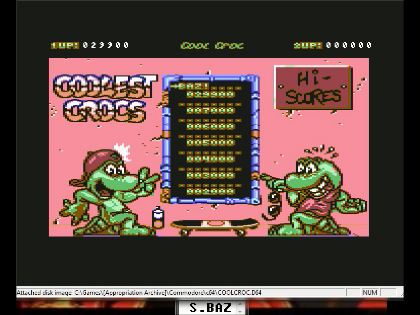 S.BAZ: Cool Croc Twins (Commodore 64 Emulated) 29,900 points on 2016-06-12 22:58:25