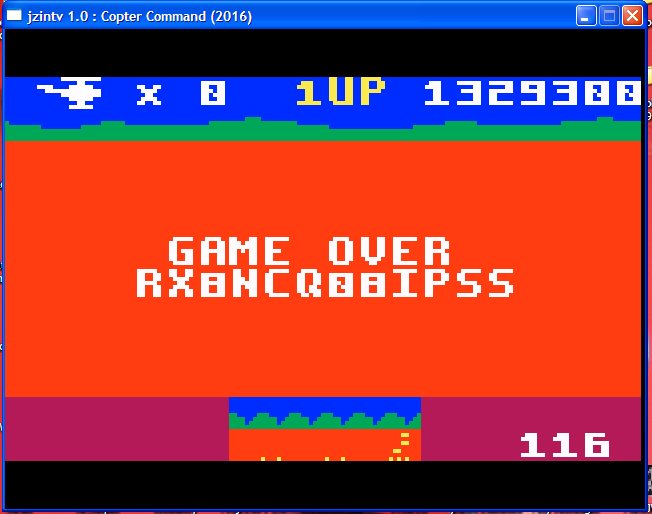 arenafoot: Copter Command: Classic [Cadet] (Intellivision Emulated) 1,329,300 points on 2016-03-01 07:24:35