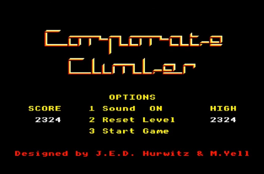 LuigiRuffolo: Corporate Climber [Impossible] (Acorn Electron Emulated) 2,324 points on 2020-07-30 07:45:59