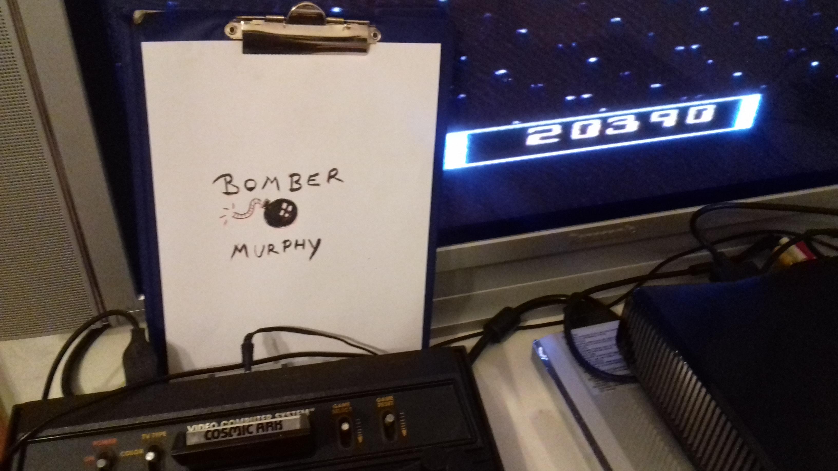 BomberMurphy: Cosmic Ark (Atari 2600 Novice/B) 20,390 points on 2018-02-27 15:26:41