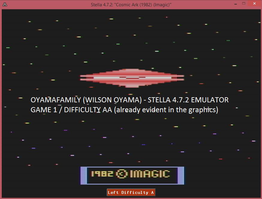 oyamafamily: Cosmic Ark (Atari 2600 Emulated Expert/A Mode) 100 points on 2016-09-15 19:47:44