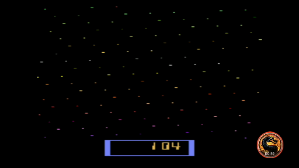 omargeddon: Cosmic Ark [Game 5] (Atari 2600 Emulated Expert/A Mode) 104 points on 2019-02-19 15:18:34