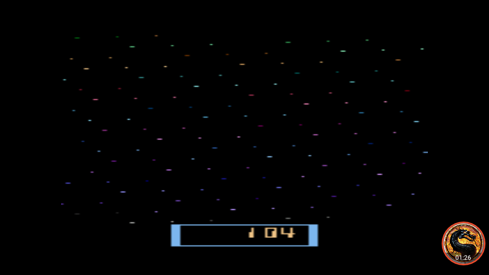 omargeddon: Cosmic Ark [Game 5] (Atari 2600 Emulated Novice/B Mode) 104 points on 2019-05-05 12:41:26