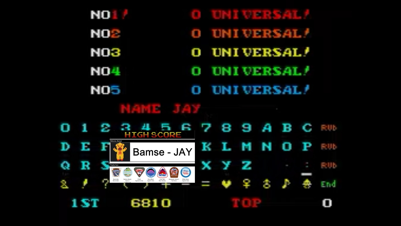 Bamse: Cosmic Avenger (Arcade Emulated / M.A.M.E.) 6,810 points on 2020-02-16 16:49:01