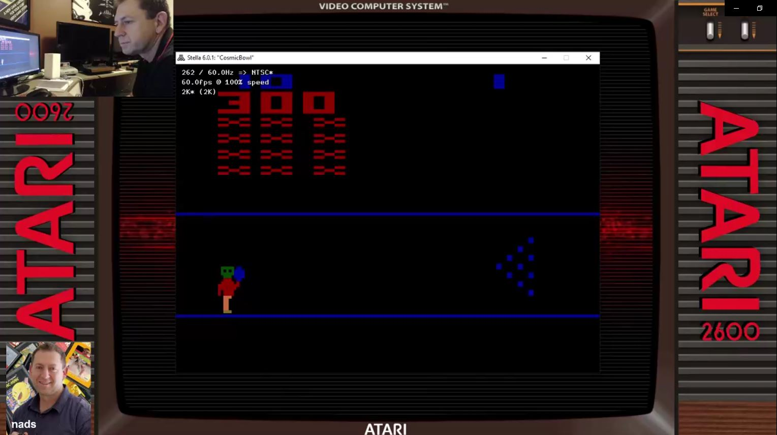 nads: Cosmic Bowling (Atari 2600 Emulated Novice/B Mode) 300 points on 2021-02-02 04:32:30