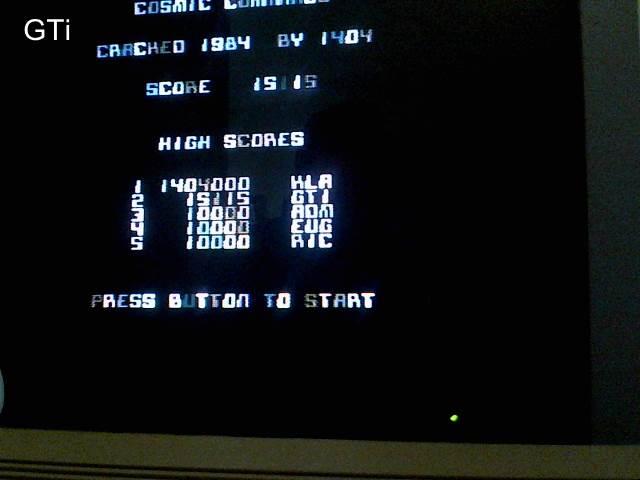 GTibel: Cosmic Commando (Commodore 64) 15,115 points on 2016-12-10 08:05:37