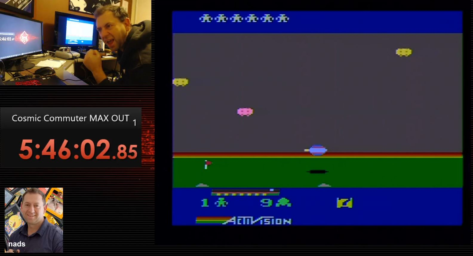 nads: Cosmic Commuter (Atari 2600) 1,000,000 points on 2020-06-22 18:59:16