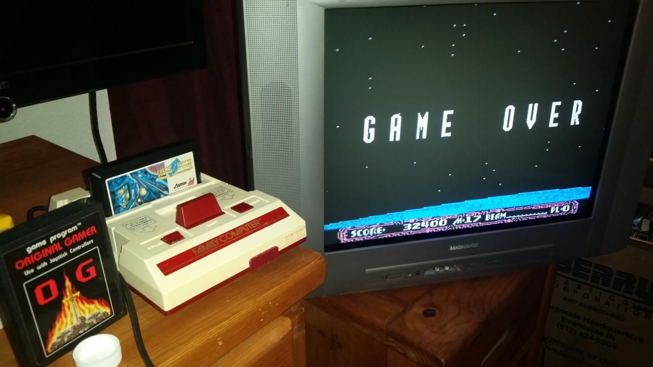 OriginalGamer: Cosmic Epsilon (NES/Famicom) 32,400 points on 2016-06-26 21:39:57