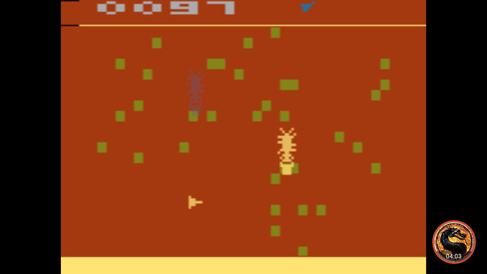 omargeddon: Cosmic Swarm (Atari 2600 Emulated Novice/B Mode) 97 points on 2019-10-25 20:56:04