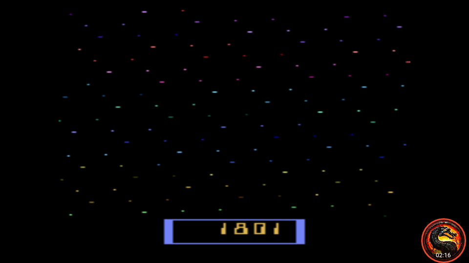 omargeddon: Cosmik Ark [Game 2] (Atari 2600 Emulated Novice/B Mode) 1,801 points on 2020-01-11 00:23:38