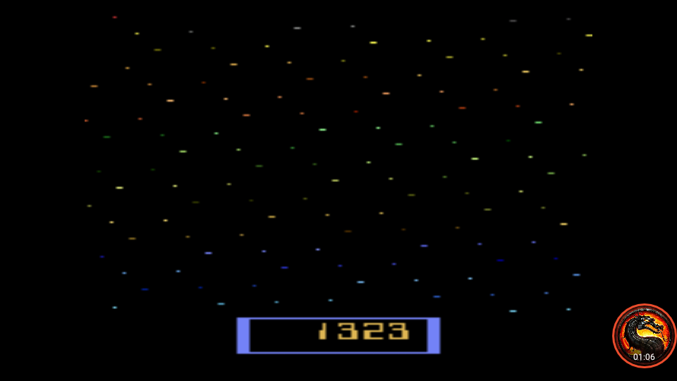 omargeddon: Cosmik Ark [Game 4] (Atari 2600 Emulated Novice/B Mode) 1,323 points on 2020-01-11 01:47:06
