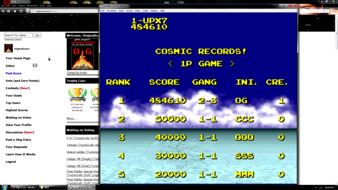 OriginalGamer: Cosmo Gang: The Video [Normal] (SNES/Super Famicom Emulated) 484,610 points on 2016-05-02 23:24:24