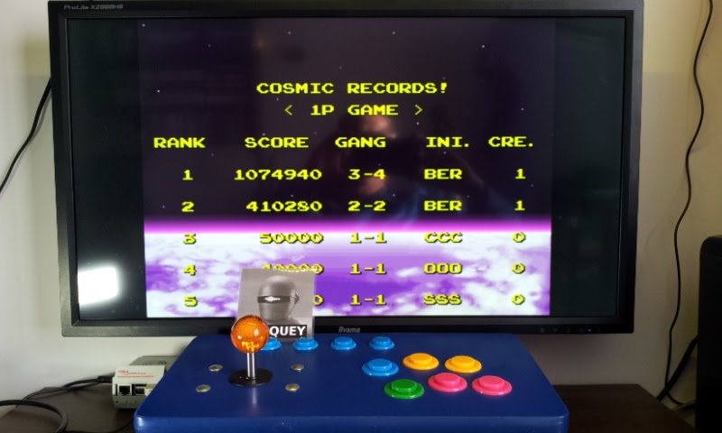 Larquey: Cosmo Gang: The Video [Normal] (SNES/Super Famicom Emulated) 1,074,940 points on 2018-05-13 16:17:04