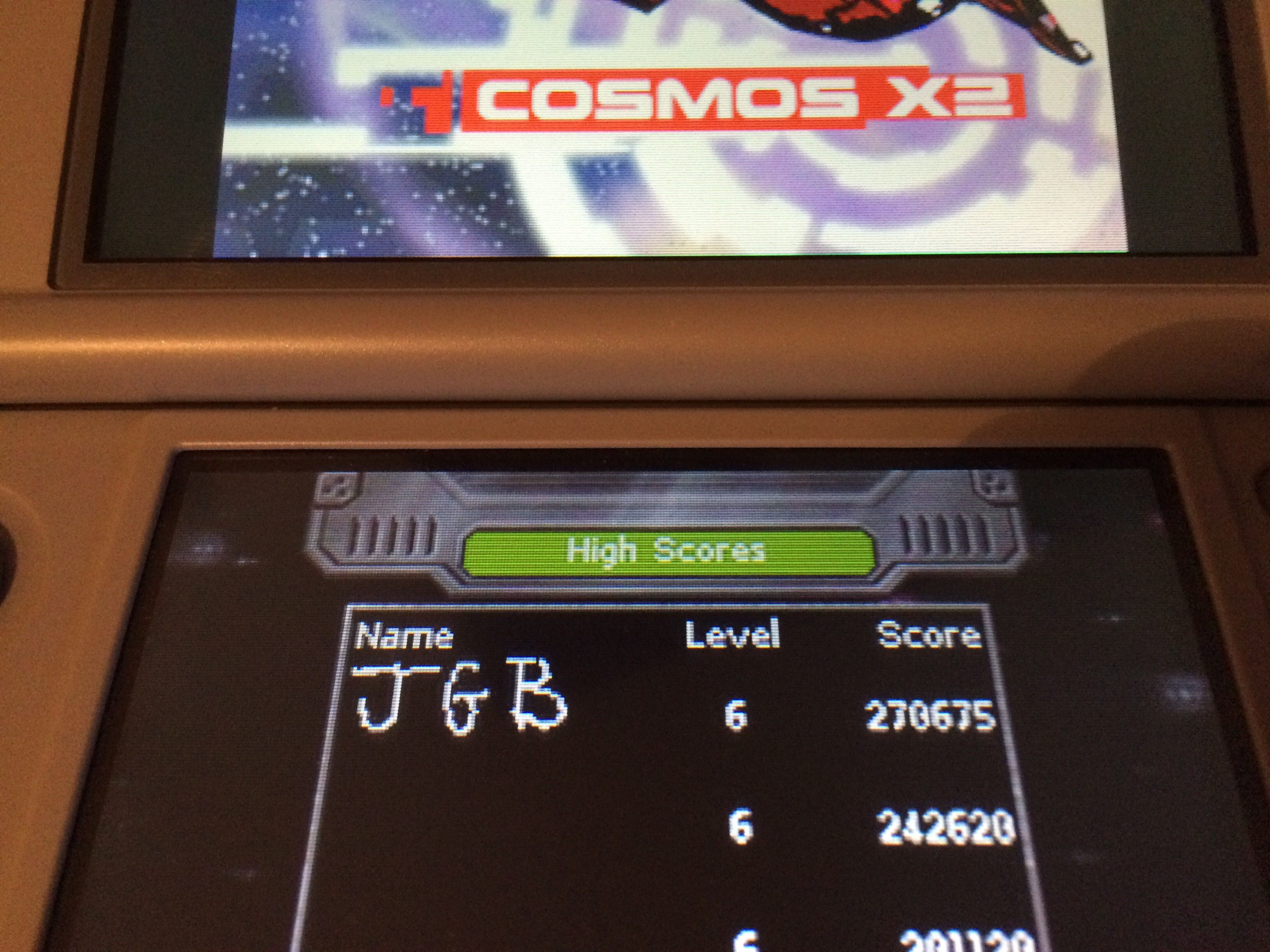 Cosmos X2 [Hard] 270,675 points
