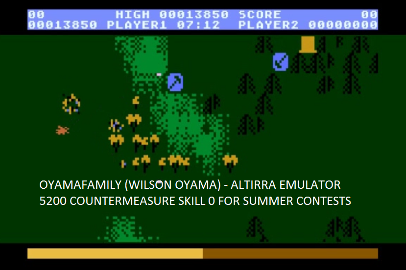 oyamafamily: Countermeasure: Skill 0 (Atari 5200 Emulated) 13,850 points on 2016-07-31 16:30:03
