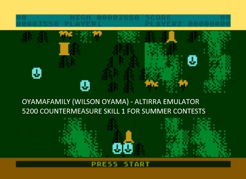 oyamafamily: Countermeasure: Skill 1 (Atari 5200 Emulated) 3,550 points on 2016-07-31 16:29:54