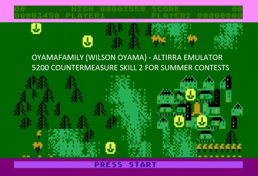 oyamafamily: Countermeasure: Skill 2 (Atari 5200 Emulated) 3,450 points on 2016-07-31 16:28:57