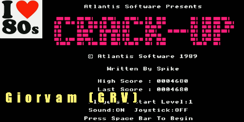Giorvam: Crack-Up (BBC Micro Emulated) 4,680 points on 2018-01-20 11:21:07