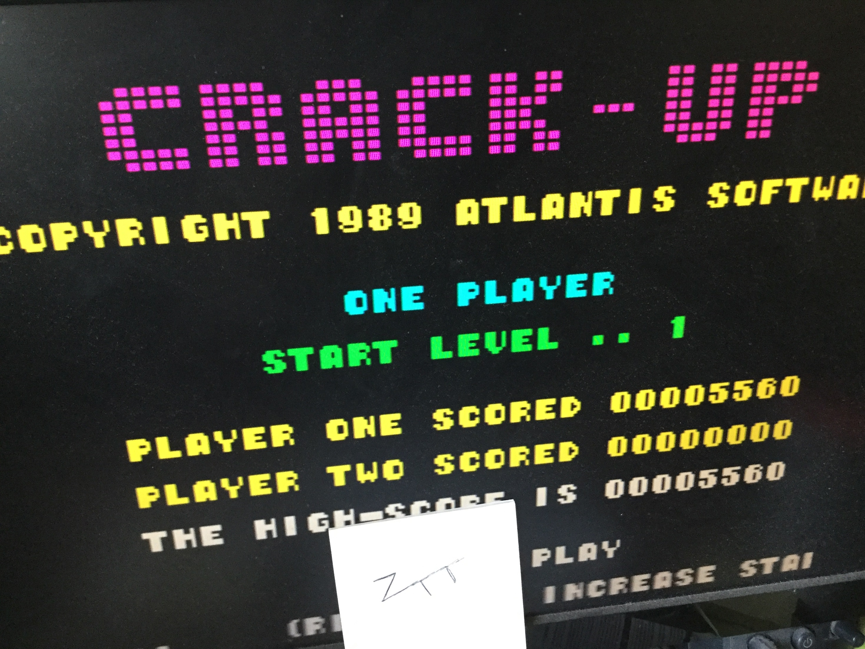Frankie: Crack-Up (ZX Spectrum Emulated) 5,560 points on 2021-03-21 05:39:20