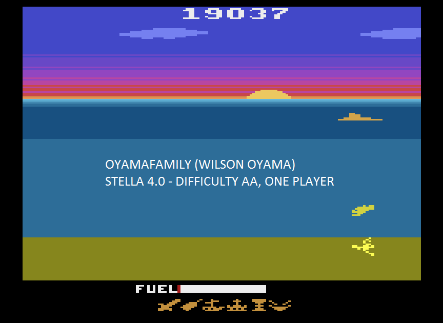 oyamafamily: Crash Dive (Atari 2600 Emulated Expert/A Mode) 19,037 points on 2015-08-15 19:47:48