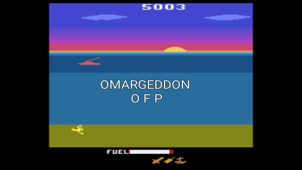 omargeddon: Crash Dive (Atari 2600 Emulated Novice/B Mode) 5,003 points on 2016-12-17 00:18:42