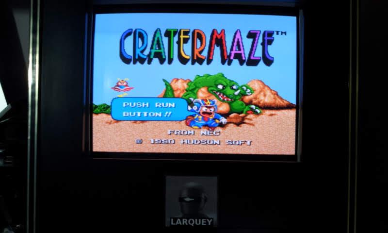 Larquey: Cratermaze (TurboGrafx-16/PC Engine Emulated) 451,400 points on 2018-09-03 13:14:23