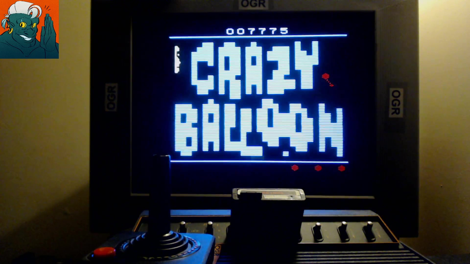 AwesomeOgre: Crazy Balloon (Atari 2600 Expert/A) 7,775 points on 2019-10-20 17:19:26