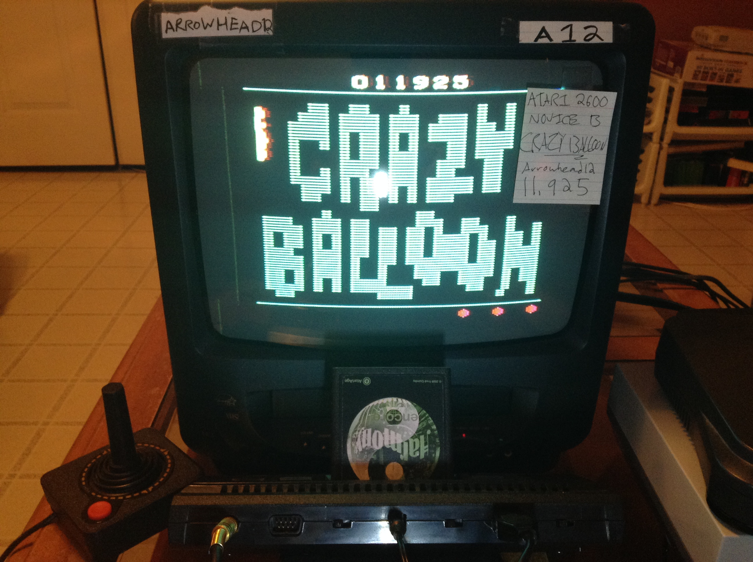 Arrowhead12: Crazy Balloon (Atari 2600 Novice/B) 11,925 points on 2019-01-01 19:02:51