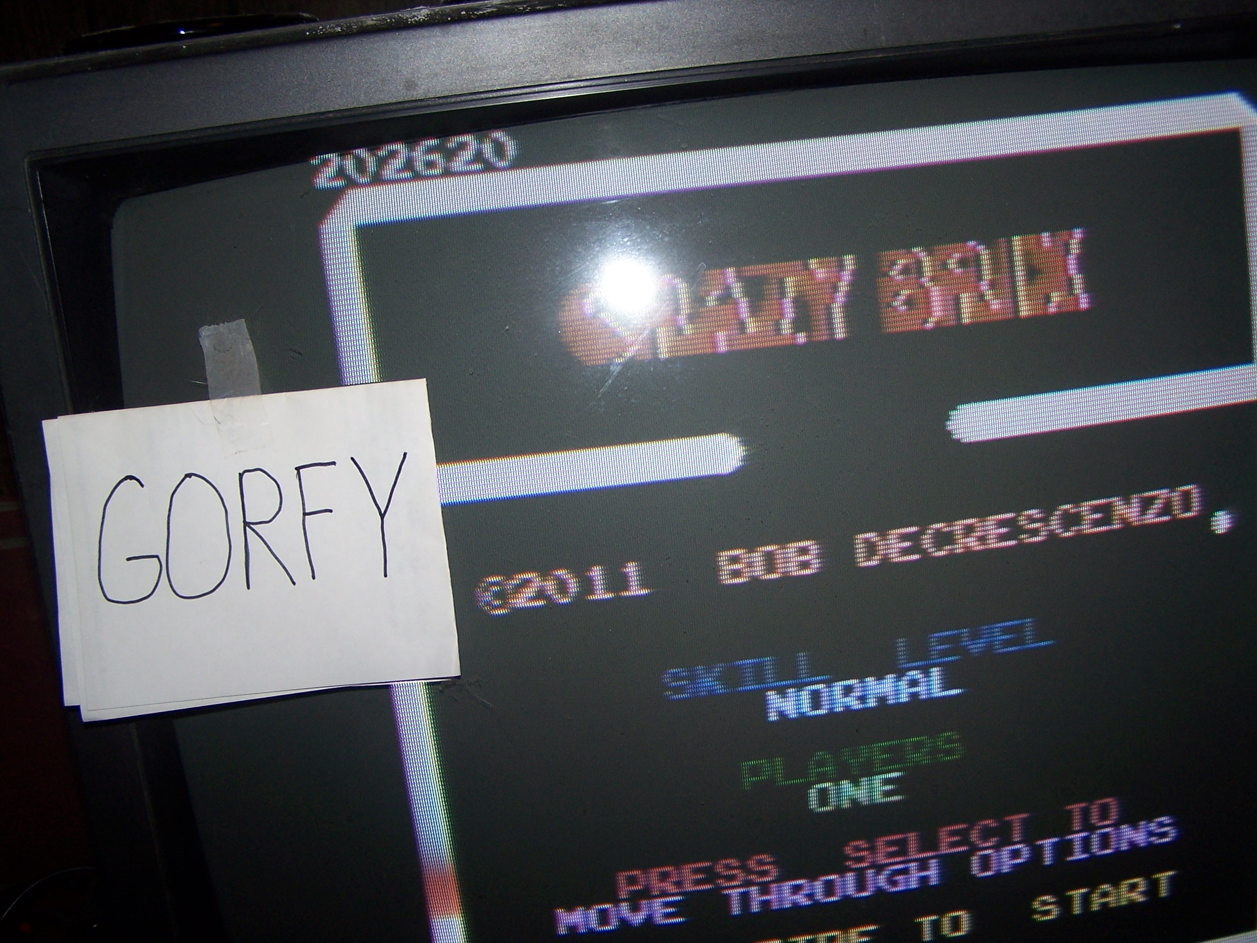 Gorfy: Crazy Brix: Normal (Atari 7800) 202,620 points on 2016-01-15 23:30:21