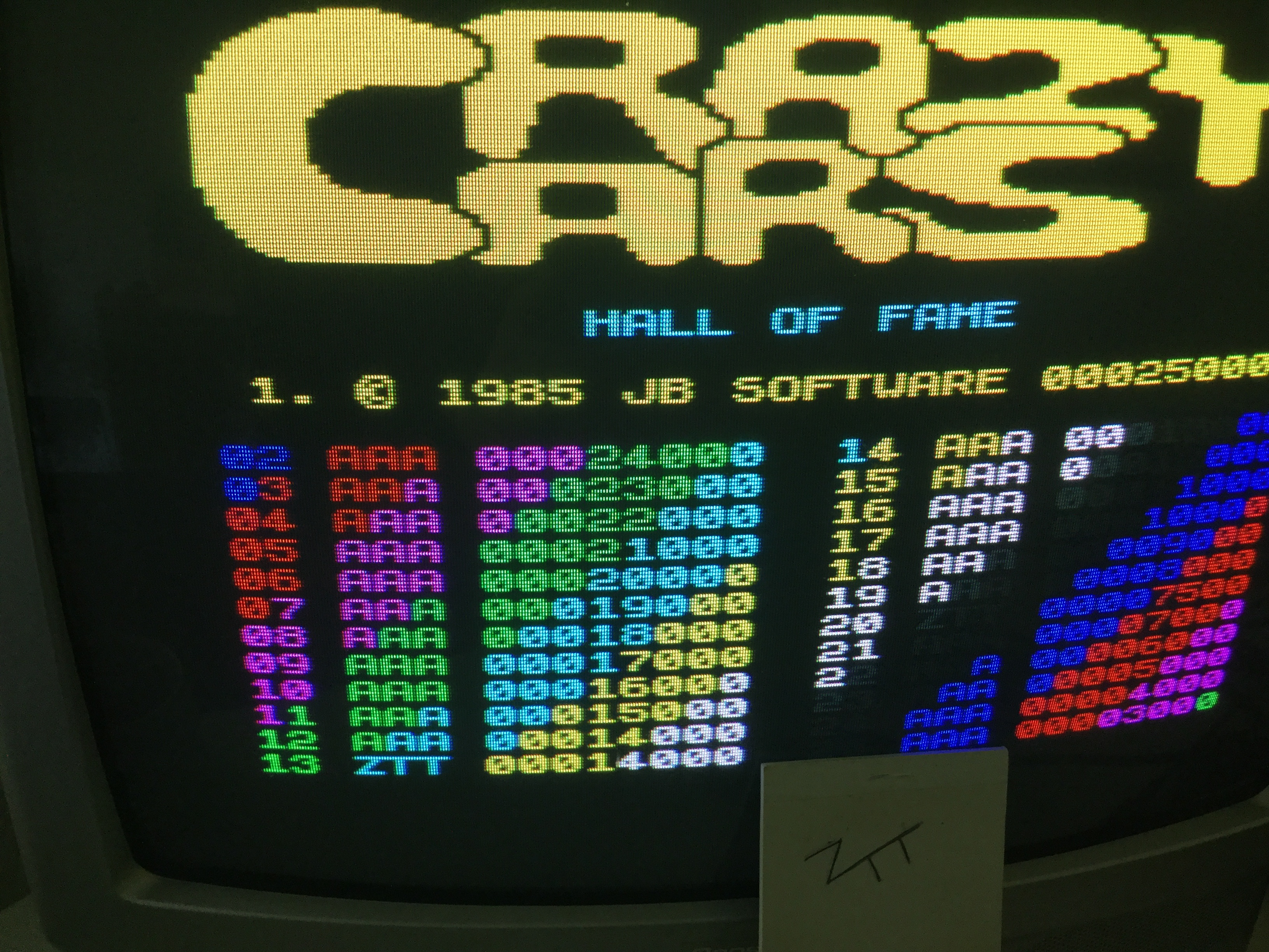Frankie: Crazy Cars [JB Software] (ZX Spectrum) 14,000 points on 2019-05-18 07:32:46