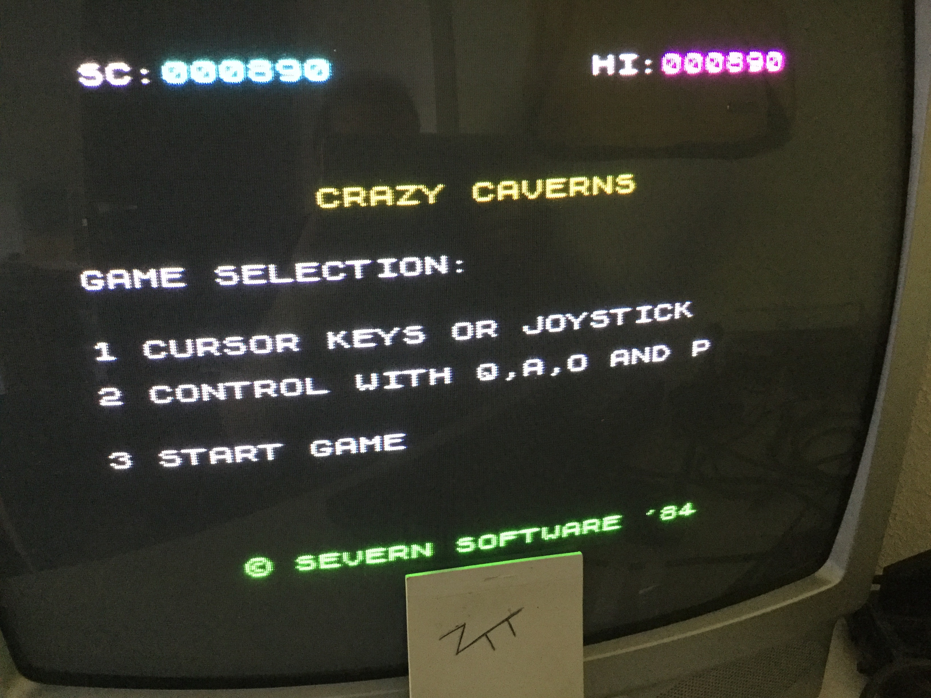 Frankie: Crazy Caverns (ZX Spectrum) 890 points on 2019-05-20 11:49:08