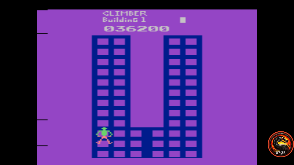 omargeddon: Crazy Climber (Atari 2600 Emulated Expert/A Mode) 36,200 points on 2020-07-19 21:45:39