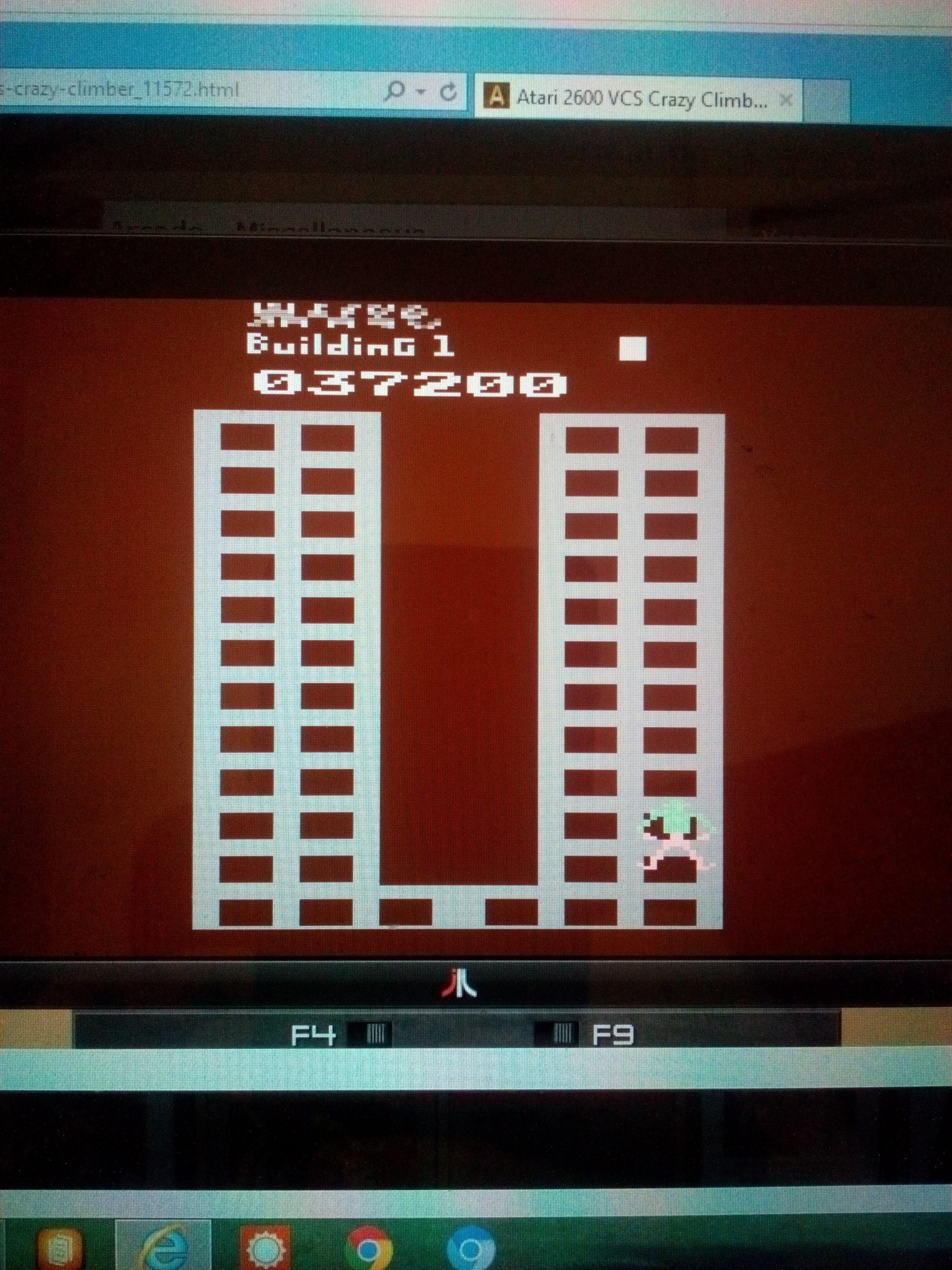 MisterVCS: Crazy Climber (Atari 2600 Emulated Novice/B Mode) 37,200 points on 2017-07-09 03:40:19