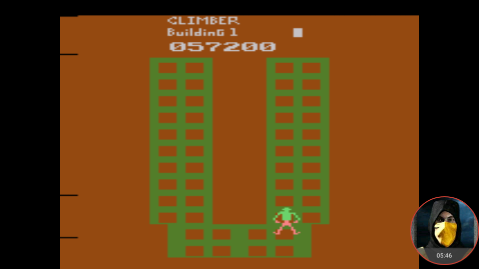 omargeddon: Crazy Climber (Atari 2600 Emulated Novice/B Mode) 57,200 points on 2018-01-16 18:00:15