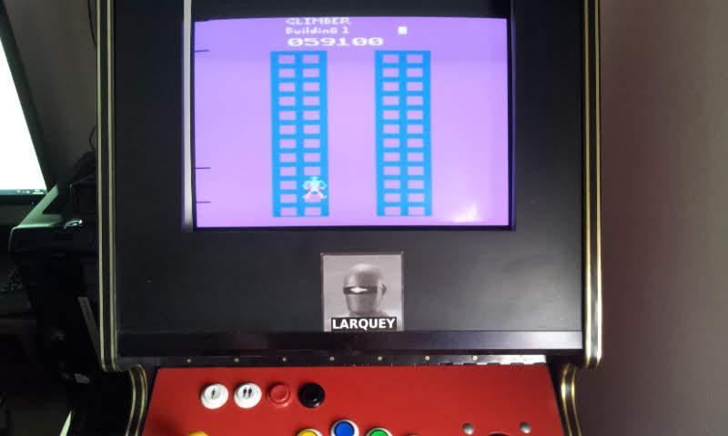 Larquey: Crazy Climber (Atari 2600 Emulated Novice/B Mode) 59,100 points on 2018-06-14 14:13:30