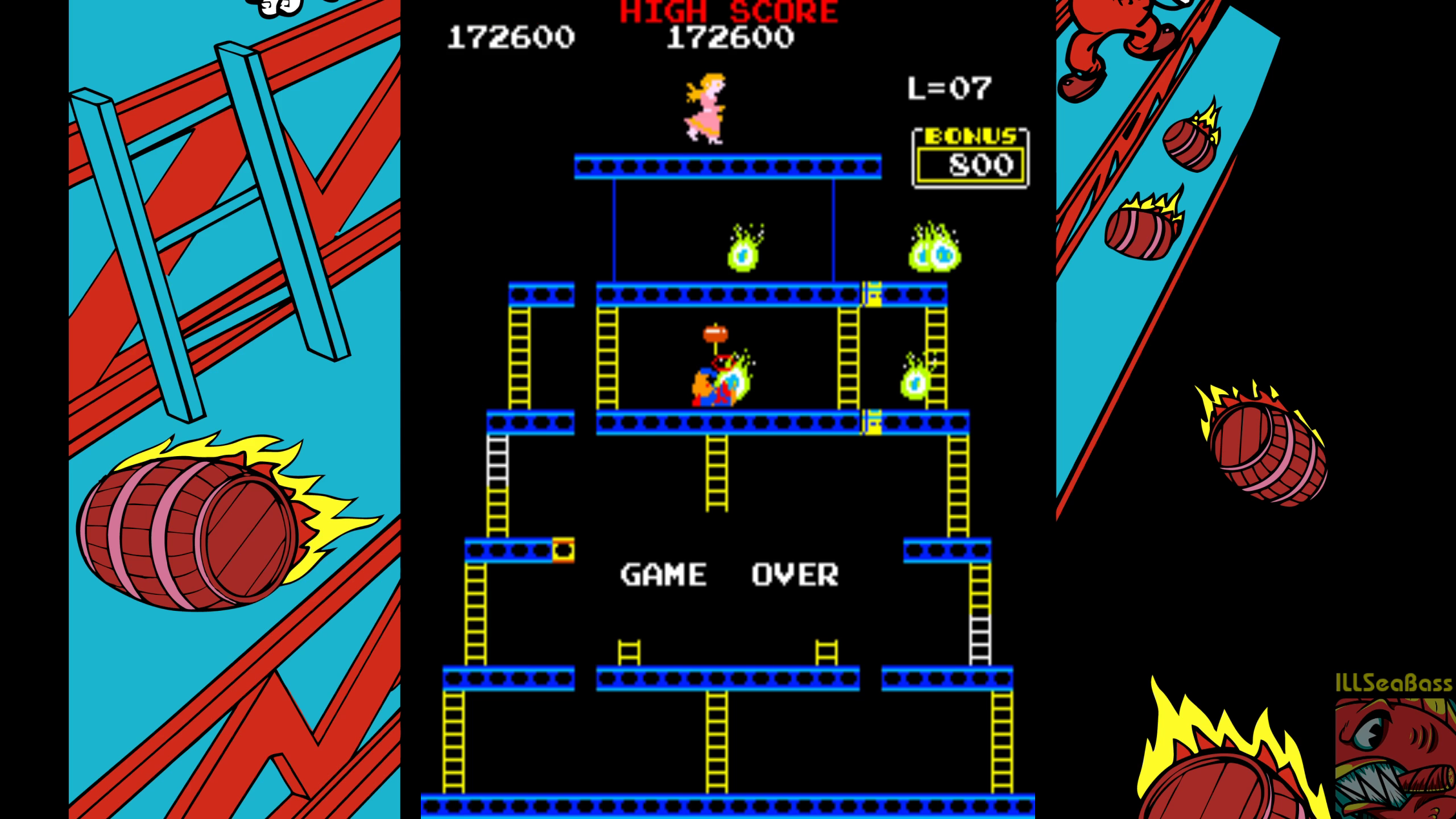 ILLSeaBass: Crazy Kong (Arcade Emulated / M.A.M.E.) 172,600 points on 2018-07-22 02:04:14