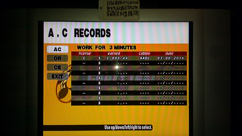 Crazy Taxi [Arcade/3 Minutes] 2,902 points