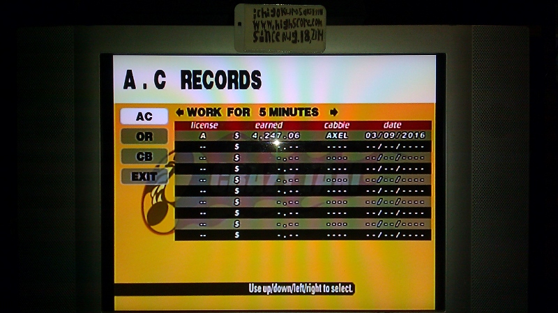 Crazy Taxi [Arcade/5 Minutes] 4,247 points
