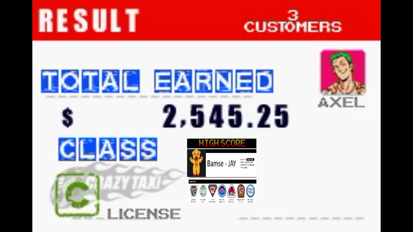 Bamse: Crazy Taxi: Catch A Ride: City 1 [10 Minutes] (GBA Emulated) 2,545 points on 2019-10-31 18:49:57