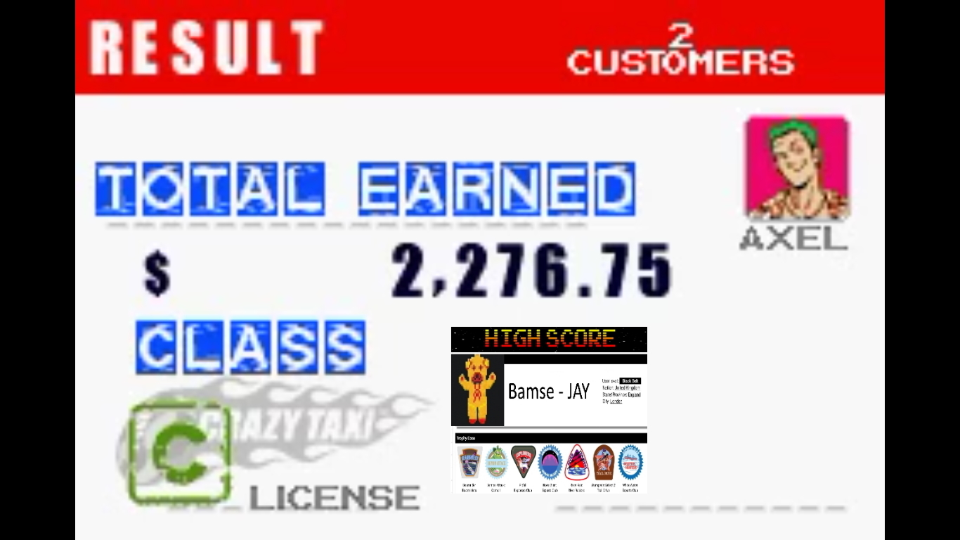 Bamse: Crazy Taxi: Catch A Ride: City 1 [3 Minutes] (GBA Emulated) 2,277 points on 2019-10-31 18:45:57